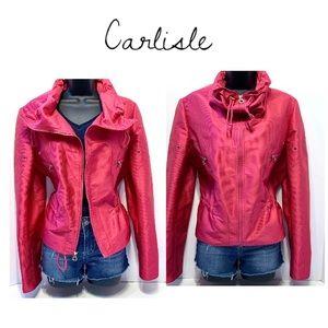 Carlisle Pink lightweight Moto style jacket